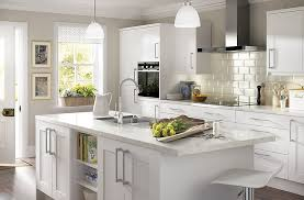 Kitchen Cabinet Doors B Q It Stonefield White Classic Style Diy At B Q