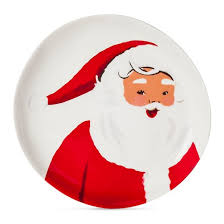 santa 7 8in melamine appetizer plate and white threshold