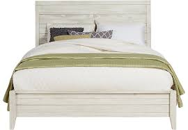 Bed Images Palm Grove White 3 Pc Queen Panel Bed Queen Beds White