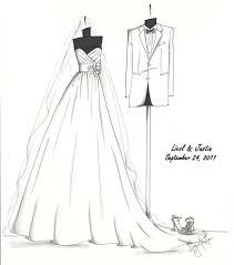 ever considered a custom sketch of your wedding gown