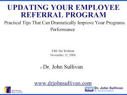 updating your employee referral program