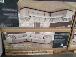 Costco Sectional Sofa by Bainbridge 4 Piece Fabric Sectional