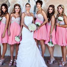 pink bridesmaid dresses sweetheart bridesmaid dresses hot pink empire bridesmaid