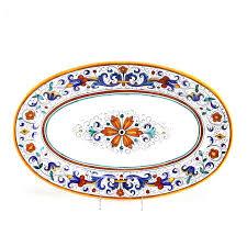 painted platter grazia deruta for williams sonoma painted platter ebth