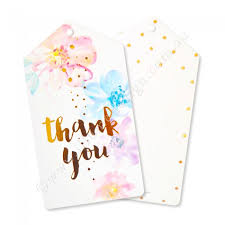 thank you tags gold floral thank you tags pack of 10