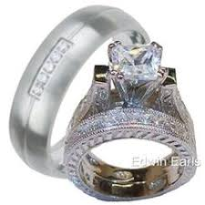 Wedding Rings Sets For Him And Her by Bridal Sets Cubic Zirconia Sears