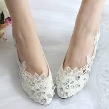 princess wedding shoes aliexpress buy princess lace rhinestones wedding shoes