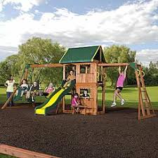 Backyard Swing Sets For Kids by Swing Sets Playsets Sears