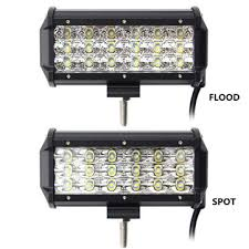 security led lights car 7 inch 90w led light bar flood and spot off road car truck 9 32v