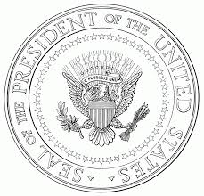 seal coloring page presidential seal coloring page coloring home throughout