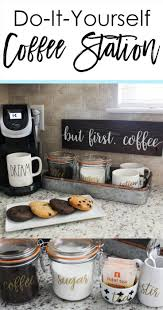 how to set up your kitchen diy coffee station coffee kitchens and bar