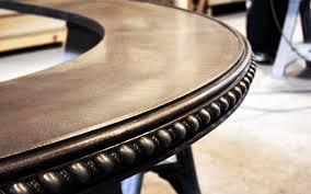 Zinc Top Bar Table Decorative Pewter Bar Top In Our Artisan Shop Pewter
