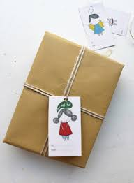 gift wrapping ideas with brown paper