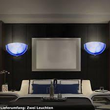 spot chambre à coucher appliques murales bleus en verre ebay