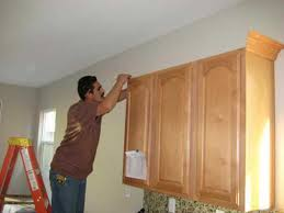 Installing Crown Molding On Cabinets How To Cut And Install Crown Molding On Kitchen Cabinets