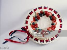 Lemon Cheesecake Decoration Sour Cream And Lemon Cheesecake Decorated With Berries And Ribbons