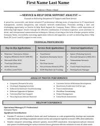 resume for it support for help desk