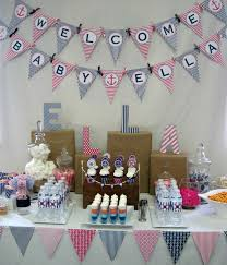 anchor baby shower ideas formidable nautical baby shower decorations also nautical baby