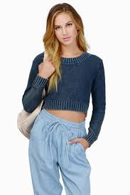 cropped sweater crop top sweaters tobi us