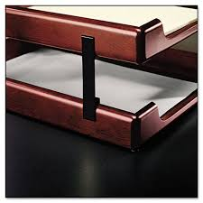 wood tones desk tray stacking clips blk ultimate office