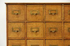 Antique Wood File Cabinets by Oak Quartersawn Countertop 1910 Antique 45 Drawer File Cabinet