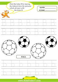 letter b worksheets for kindergarten koogra