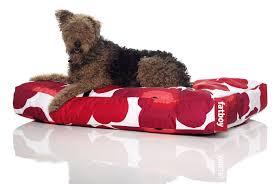 pouf style fatboy doggielounge small marimekko unikko pouf for dogs unikko red