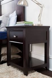 Small White Bedside Table Nightstand Appealing Craft Nightstand Espresso Steel Knobs