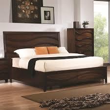 King Size Oak Bed Frame by Loncar 6 Piece Bedroom Set In Java Oak Finish By Coaster 203101