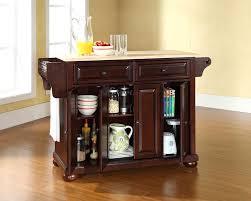 crosley furniture alexandria wood top kitchen island crosley