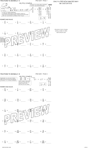 Fractions Decimals And Percents Worksheets 6th Grade Worksheets On Decimals By Math Crush