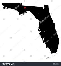 State Map Of Florida With Cities by Map Silhouette State Florida Capital City Stock Vector 650903461