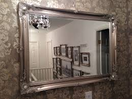 Large Shabby Chic Frame by X Large Antique Silver Shabby Chic Ornate Decorative Wall Mirror
