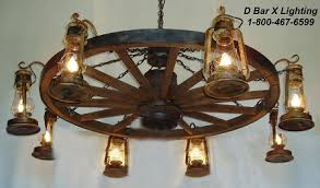 wagon wheel light fixture ww036 rustic wagon wheel chandelier light fixture with lantern