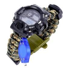 survival bracelet watches images Men 39 s paracord digital survival watches truly watches jpg