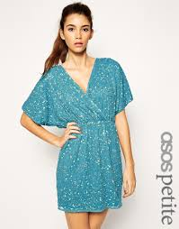 image 1 of asos petite sequin kimono mini dress diy clothing