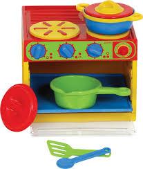 Plastic Toy Kitchen Set Gowi Toys 7 Pc Kitchen Set
