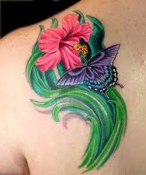 51 hibiscus flower tattoos for shoulder