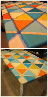 Diy Kitchen Table Top by Best 25 Painted Table Tops Ideas On Pinterest Painted Tables