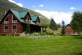 Two Story Log Homes Colorado Waterfront Property In Gunnison Crested Butte Bonanza