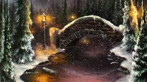 how to paint a romantic christmas winter scene a basic speed