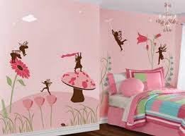 pink color painting wall mural for kids bedroom wallpaper murals
