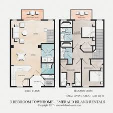emerald island 3 bed condo floor plan