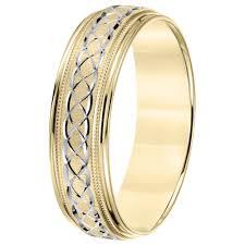 engraved wedding bands cambridge lightweight 14k two tone gold men s engraved wedding