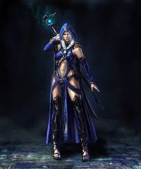 female blue wizard ωμαgesω pinterest rpg characters and