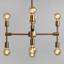 Chandelier Bulb Antique Gold Modular 8 Bulb Chandelier World Market