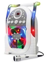 karaoke machine with disco lights the singing machine karaoke system with led disco lights white