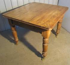 Pine Kitchen Furniture Victorian Rustic Pine Kitchen Table Antiques Atlas