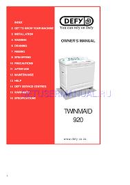 defy washers twinmaid 920 user u0027s manual download free