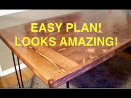 how to build an easy table how to build a farmhouse kitchen table youtube